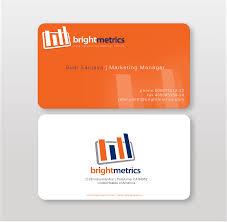 orange business card pro word template