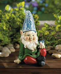cheery gnome solar garden statue waterfallnow