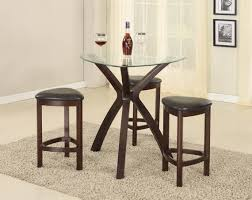 triangle glass dining table set