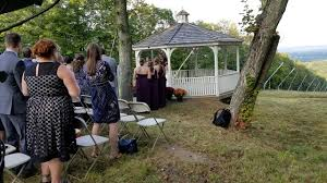 ct djs j u0026s entertainment provides outdoor wedding ceremony and