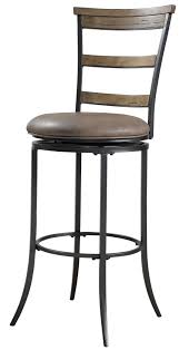 Outdoor Bar Height Swivel Chairs Furniture Black Metal Swivel Bar Stools With Back With Cream Seat