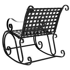 Iron Rocking Patio Chairs Bcp Patio Iron Scroll Rocker Porch Rocking Chair Outdoor Seat