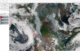 Canada Wildfire Satellite by Fire Detection Cimss Satellite Blog