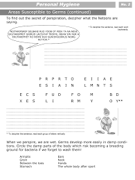 personal hygiene worksheets for kids level 3 personal hygiene