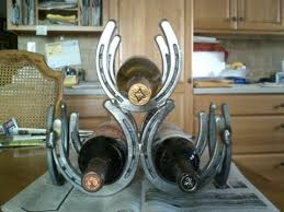 diy horseshoe wine rack youtube