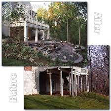 Sloping Backyard Ideas Home Decor Ideas Sloped Backyard Before And After
