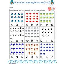 counting numbers 1 to 20 summer counting numbers practice pages 1 20 differentiated