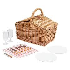 picnic basket for 2 picnic time piccadilly picnic basket with service for two target