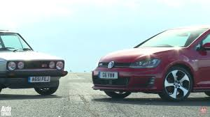 first generation vw golf gti takes on all new model and wins u2026 kind