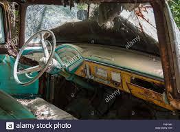 Vintage Ford Truck Steering Wheel - dashboard of mid 50 u0027s pickup truck found abandoned in georgia