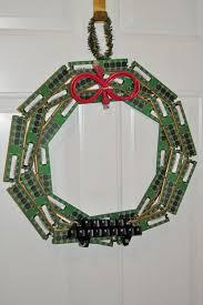 upcycled computer wreath make
