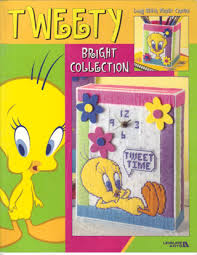 free awesome tweety bird bright collection plastic canvas book