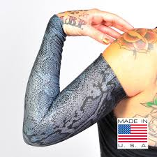 snake grey full arm sleeves to cover tattoos by ink armor tat2x