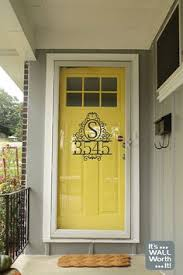 yellow front door by valspar fall meadow decorating ideas