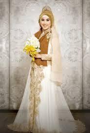 tutorial hijab syar i untuk pengantin model gaun pengantin muslimah terbaru dan syar i jilbab