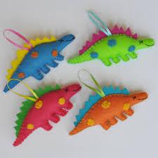 eco friendly dinosaur christmas ornament ornament craft and