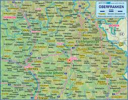 Map Of Bavaria Germany by Map Of Upper Franconia Germany Bavaria Map In The Atlas Of