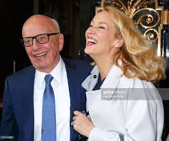 rupert murdoch and jerry hall are pictured leaving scott u0027s after