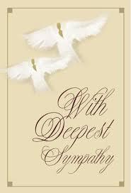 condolences greeting card with deepest sympathy american sympathy card the black