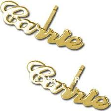 Name Earrings Cheap Fashion Carrie Earrings Jewelry Handmade Sterling Silver