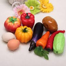 plastic vegetables food decoration tomato carrot egg eggplant home