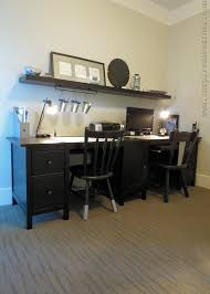Decorate Office Shelves by Abundant Glass Top And Natural Polished Wood Double Desk Shelves
