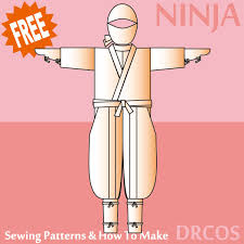 sewing pattern ninja costume ninja costume free japanese cosplay sewing pattern you can learn