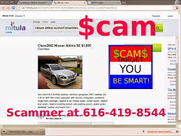 nissan altima for sale with sunroof scam ads with email addresses and phone numbers posted 02 28 14