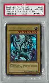 yu gi oh lob 1st ed blue eyes white dragon ultra rare a001