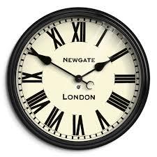 large wall clock roman numeral wall clock black station newgate battersby