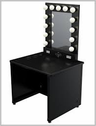 black vanity set with lights broadway lighted vanity makeup desk home design ideas and inspiration