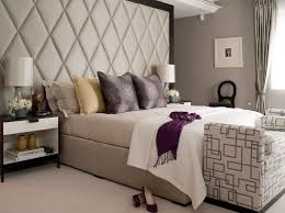 padded headboard in bedroom transitional with bookcase headboard