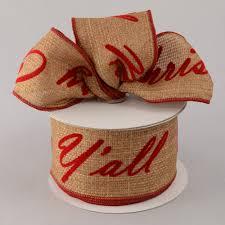 merry christmas ribbon 2 5 merry christmas y all faux burlap ribbon 10 yards rg1292