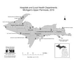 up michigan map gis exchange map details michigan peninsula hospitals and