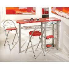 table de cuisine cdiscount table haute de cuisine et tabouret table bar brigitte mactal