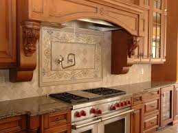 Decorative Kitchen Backsplash Kitchen Curved Kitchenette Cabinet Style With Retro Mosaic