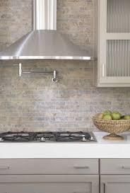 white stone backsplash fireplace basement ideas