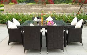 Great Outdoor Wicker Dining Set Summerset  Piece Outdoor Wicker - 7 piece outdoor dining set with round table