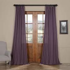 Purple Sheer Curtains Purple Sheer Curtains Drapes You Ll Wayfair
