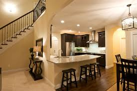 model home pictures interior whispering model kitchen stairs decobizz com