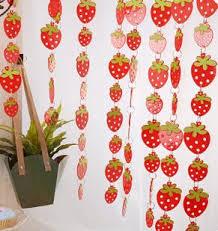 Cute Home Decor Door Curtain Cute Strawberry Pvc Plastic Curtain Home Decoration