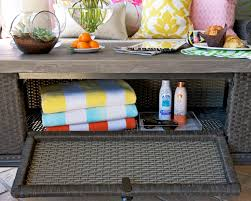 outdoor coffee table with storage coffee tables decor outdoor storage coffee table towel patio storage