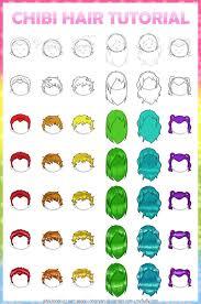 anime hairstyles tutorial tutorial chibi anime hair by ringoyan on deviantart