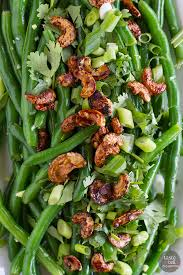 fresh green bean salad with asian dressing taste and tell