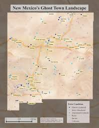 Map New Mexico by New Mexico U0027s Ghost Towns Landscape Nm Rgis