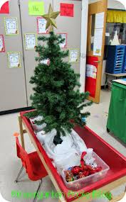 dramatic play decorate a tree at centers during