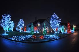 light installation evergreen landscaping