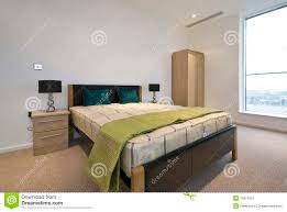 modern double bedroom with king size bed stock image image 13874331
