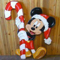 painted wood yard stakes disney mickey minnie mouse