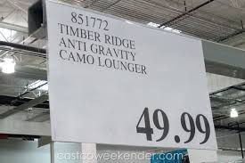 Tommy Bahama Beach Chairs At Costco Timber Ridge Zero Gravity Lounger Chair Camouflage Costco Weekender